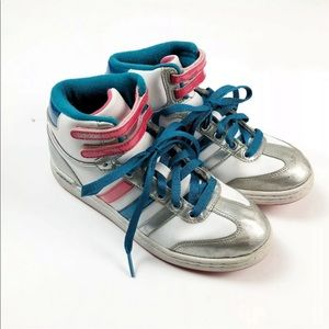Adidas Women's 6.5 Patriotic High Top Sneakers